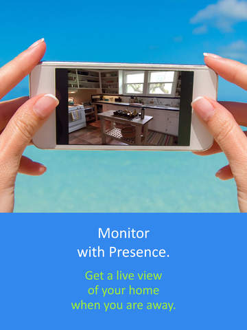 Screenshot 1 Presence: Free smart home motion detector webcam for security,  surveillance,  and energy
