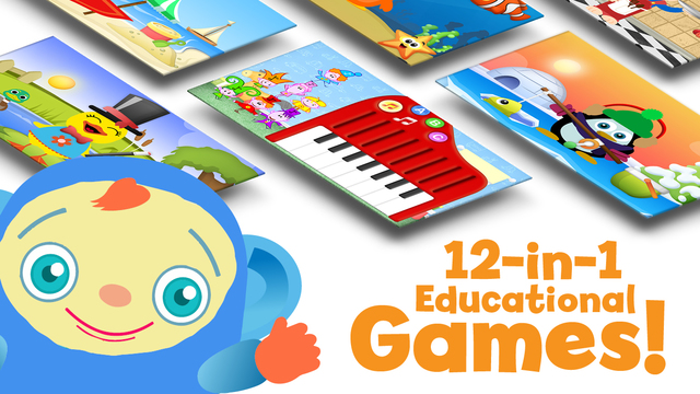 Play Time Educational Games for Kids: Puzzles Shapes Music and more