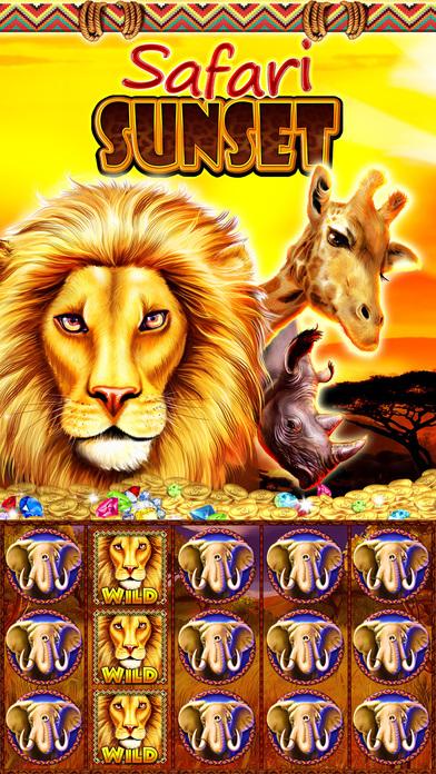 Screenshot 1 Слоты Safari Закат : Сердце Африки . Дикий Джекпот 777 Лас-Вегас Игровые автоматы
