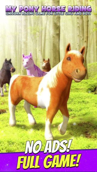 My Pony Horse Riding - Unicorn Racing Game For Little Girls and Boys