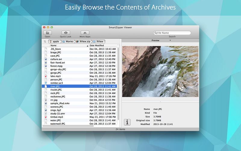 SmartZipper Viewer – 压缩包浏览工具[OS X]丨反斗限免