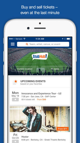 StubHub - Sports Concert Theatre Festival Show Tickets for Upcoming Local Events Games