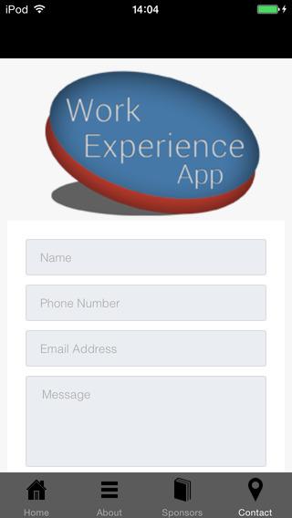Work Experience App