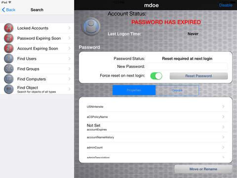 AD HelpDesk iPad Screenshot 2