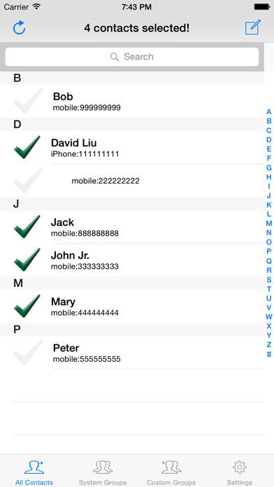 GroupSMSGo Free iPhone Screenshot 1