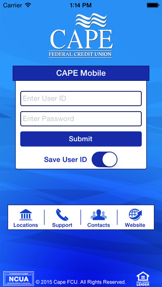 CAPE Federal Credit Union Mobile App