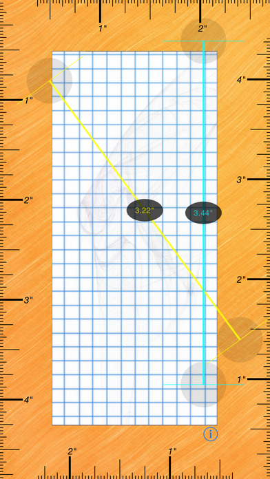 Ruler for iPad and iPhone - Free iPhone Screenshot 1