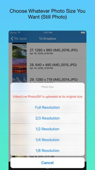 Pic Sync for Dropbox Screenshots