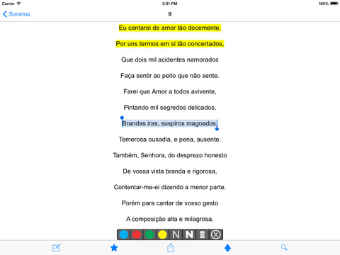 Sonetos de Luís de Camões iPad Screenshot 2