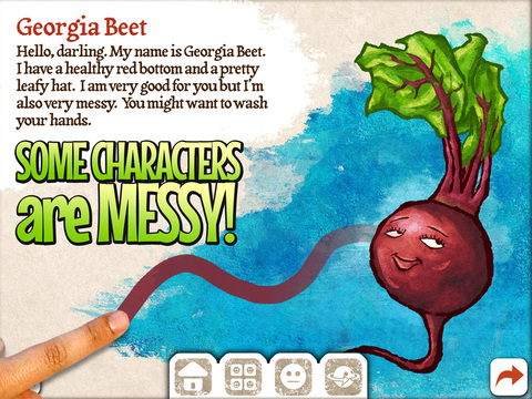 Veggie Bottoms for iPad Makes Learning About Fruits and Vegetables Fun for Kids