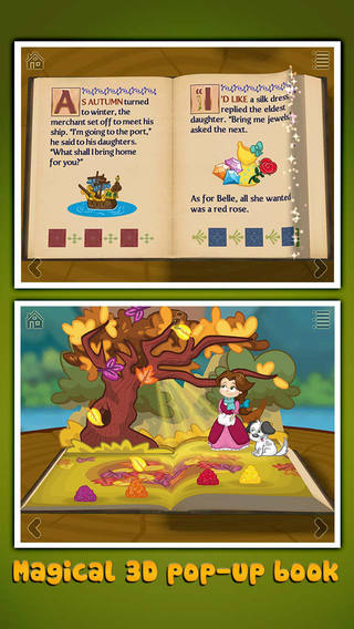 【免費書籍App】Beauty and the Beast ~ 3D Interactive Pop-up Book-APP點子