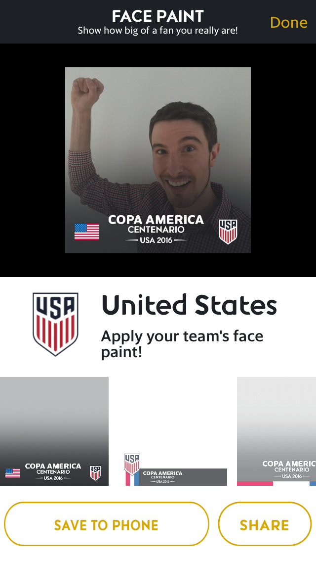 Copa America Centenario 2016 - Official Tournament App