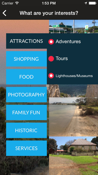 The Kangaroo Island App Screenshots
