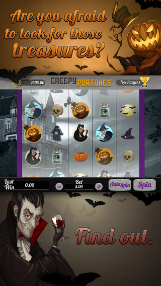 Creepy Fortunes Slots - Spin Win Coins with the Jackpot Vegas Machine