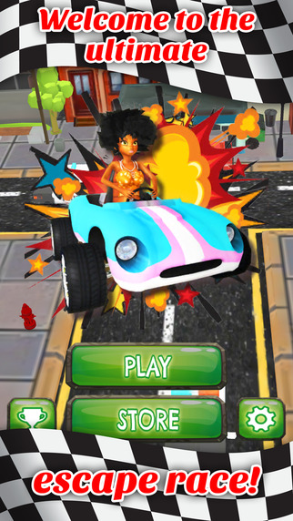 Disco Girl Power Go Kart Adventure - FREE - Fast Mini Obstacle Course Race Game