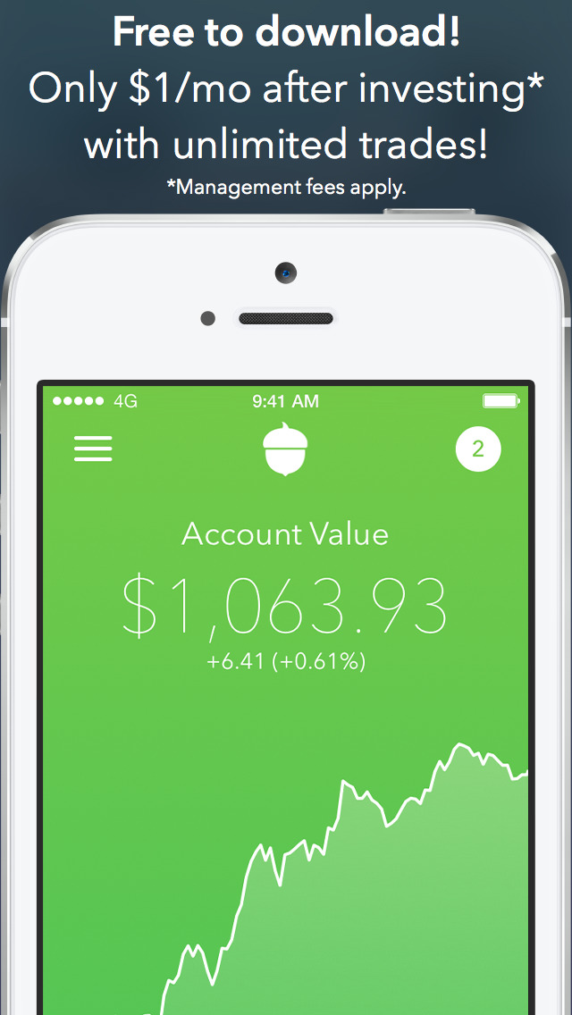 Acorns Invest Spare Change Into Stocks Ios Appcrawlr