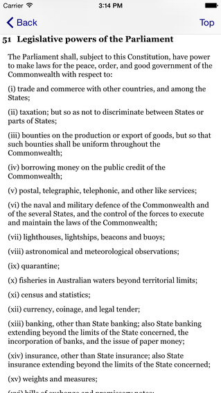 Constitution iPhone Screenshot 2