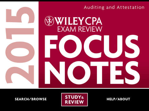 AUD Notes - Wiley CPA Exam Review Focus Notes On-the-Go: Auditing and Attestation iPad Screenshot 1
