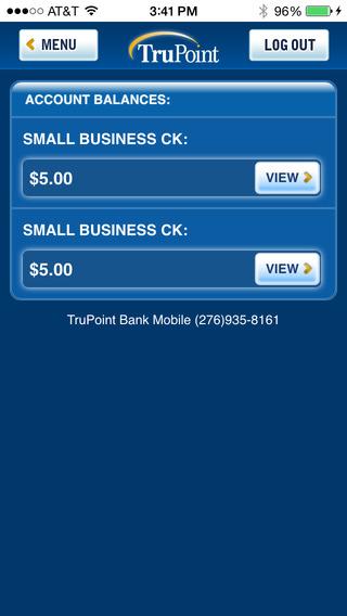 TruPoint Bank iPhone Screenshot 5