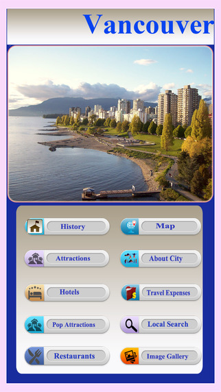Vancouver Offline Map Visitors Guide