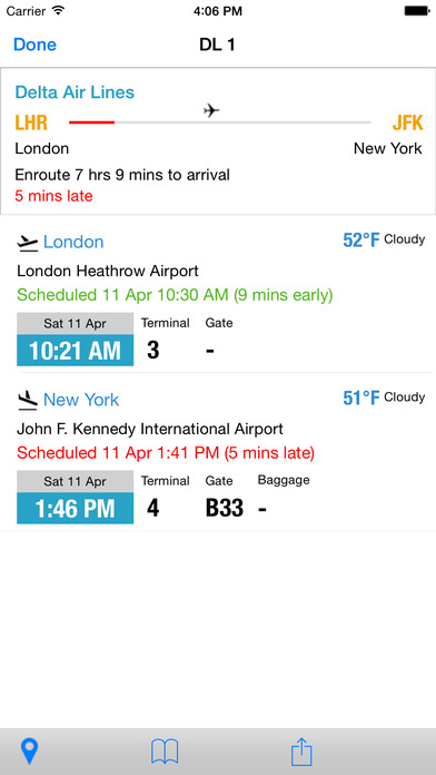Flight Tracker Live and Real Time US and International iPhone Screenshot 3
