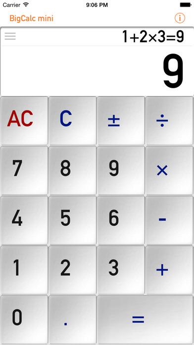 BigCalcMini iPhone Screenshot 2