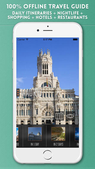 Madrid Travel Guide with Offline City Street Maps