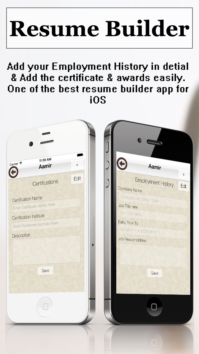 resume builder pro cv maker and resume designer with pdf output