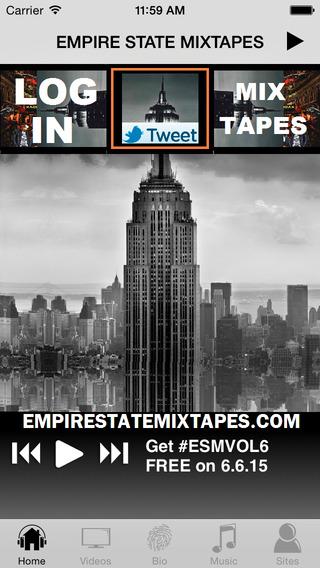 iEmpire - EMPIRE STATE MIXTAPES iPhone Screenshot 1