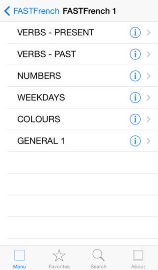FASTFrench iPhone Screenshot 3