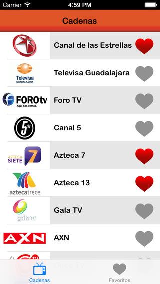 Programación TV México: programación de televisión