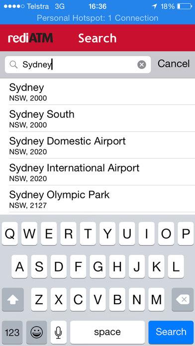 rediATM Finder iPhone Screenshot 3