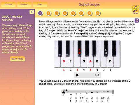SongStepper Lite - Song Writing Made Easy screenshot