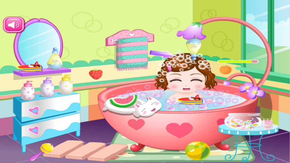 app shopper cute baby bathing game the hottest kids baby bathing game for girls and kids games. Black Bedroom Furniture Sets. Home Design Ideas