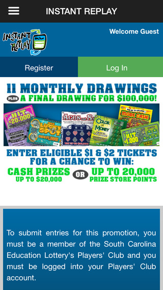 SC Lottery Instant Replay