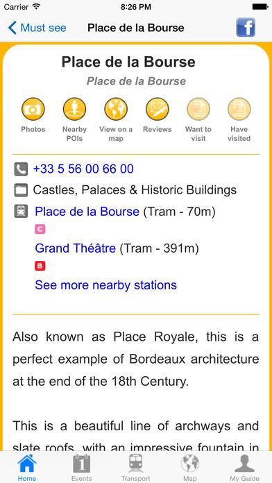 Bordeaux Travel Guide Offline iPhone Screenshot 5
