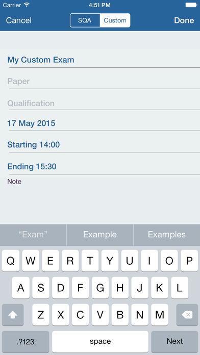 My Exams iPhone Screenshot 4