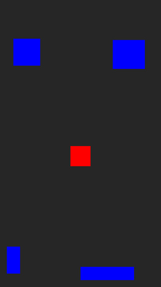 Don't touch the blue squares