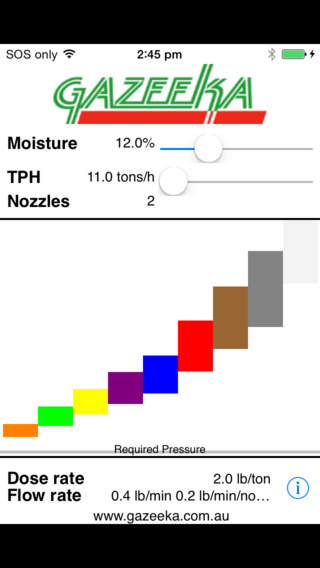 Spray Nozzle calculator iPhone Screenshot 2