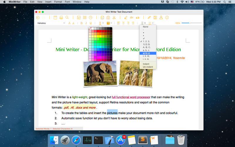 Document Writer Screenshot - 1