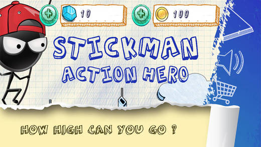 Stick-Man Action Hero: 3D Doodle Swing Adventure PRO