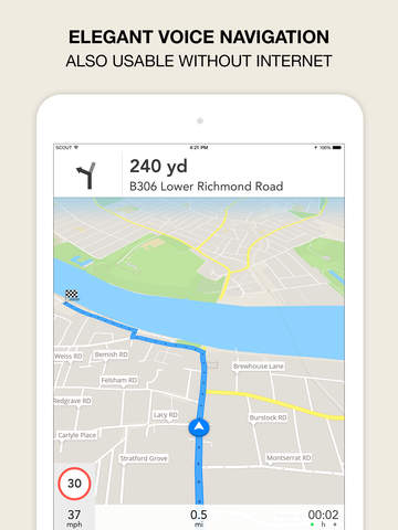 Screenshot 2 GPS Navigation,  Maps & Traffic - Scout