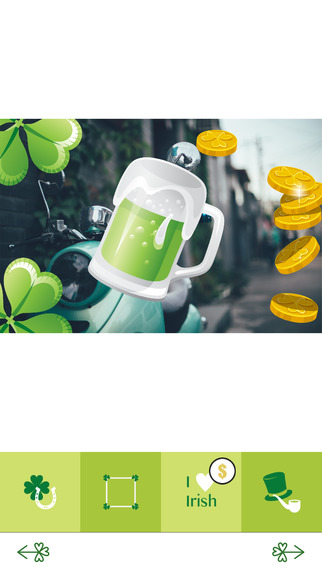 St Patrick's Photo Booth - Decorate Your Photos with Saint Patrick's Day Stickers Frames and Greetin