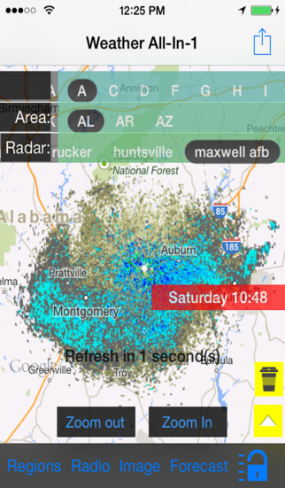 Alabama US Instant Radar Finder Alert Radio Forecast All-In-1 - Radar Now