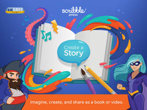 Scribble Press - Creative Book Maker for Kids Screenshots