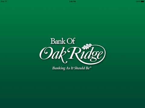 Bank of Oak Ridge for iPad