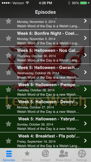Learn Welsh – Podcast App iPhone Screenshot 3