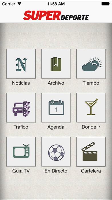 Superdeporte iPhone Screenshot 1