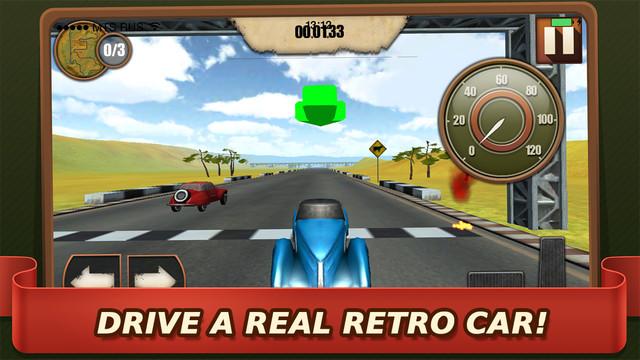 Retro Car Racing 3D Deluxe