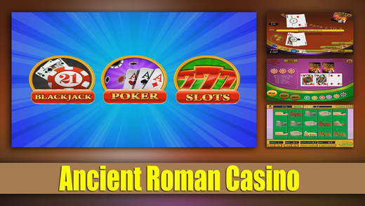 Ancient Roman Casino: Slots Blackjack and Poker Pro